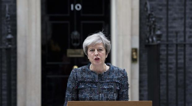 Theresa May makes a statement in Downing Street