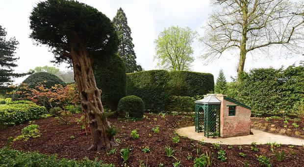 The Victorian outside toilet at Brodsworth Hall after it was restored, along with the Privy Garden (English Heritage/PA)