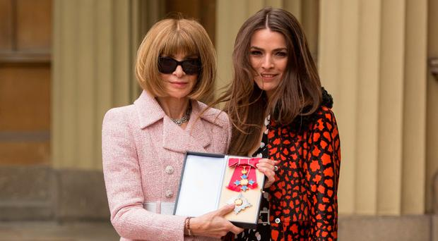 Anna Wintour, editor of US Vogue, with her daughter Bee Schaffer