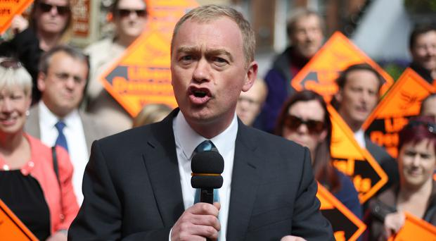 Liberal Democrat leader Tim Farron speaks in St Albans (Philip Toscano/PA)