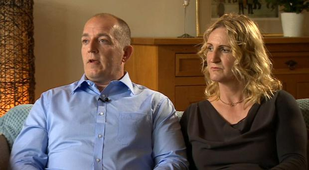 Alexander Blackman with his wife Claire (BBC/PA)