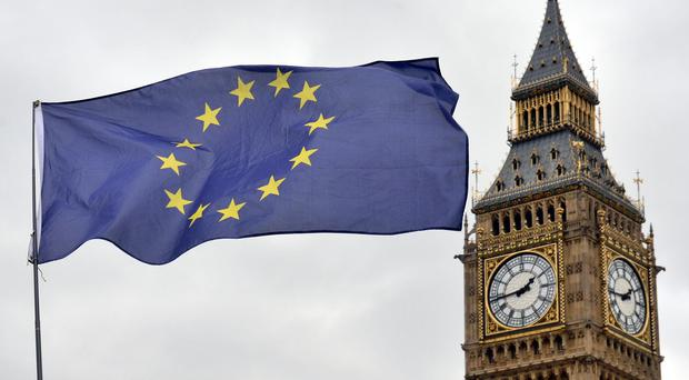 EU flag and Big Ben (Victoria Jones/PA)