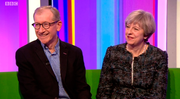 Theresa May and husband Philip on BBC's The One Show last night