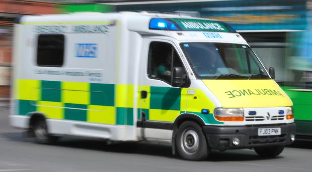 A woman riding a moped was involved in a collision in Belfast