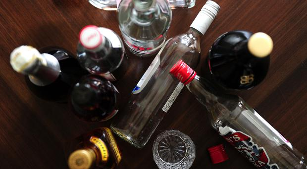 Empty bottles of alcohol (Ian West/PA)