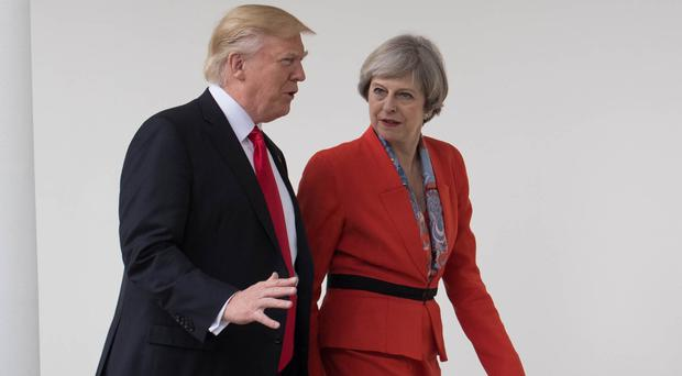 Donald Trump and Theresa May (Stefan Rousseau/PA)