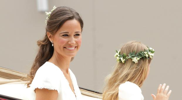 Pippa Middleton at the wedding of her sister Kate (Steve Parsons/PA)