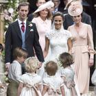 Pippa Middleton and James Matthews leave the church (Arthur Edwards/The Sun/PA)