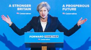 Conservative party leader Theresa May (Danny Lawson/PA)