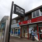 A Post office being used as a polling station (Lynne Cameron/PA)