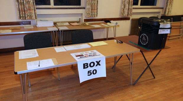 South Belfast Polling Station (Liam McBurney/PA)