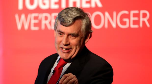 The former PM penned a letter to 100,000 people in seats where Labour has a chance of ousting the SNP (Jane Barlow/PA)