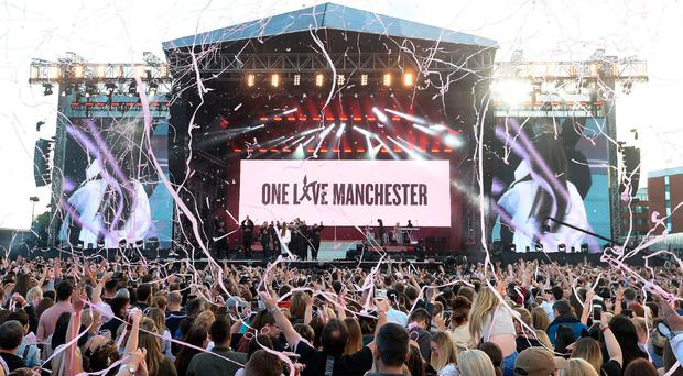 The stage at Emirates Old Trafford yesterday