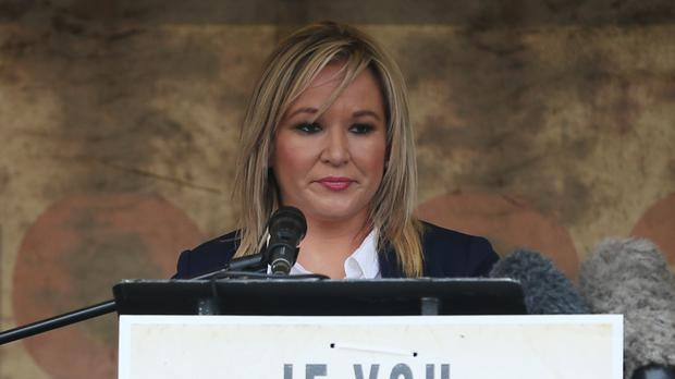 Sinn Fein leader for Northern Ireland Michelle O'Neill (Brian Lawless/PA)