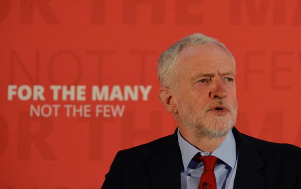 Labour leader Jeremy Corbyn delivers a speech at York Science Park where he outlined his party's industrial strategy while on the general election campaign trail.