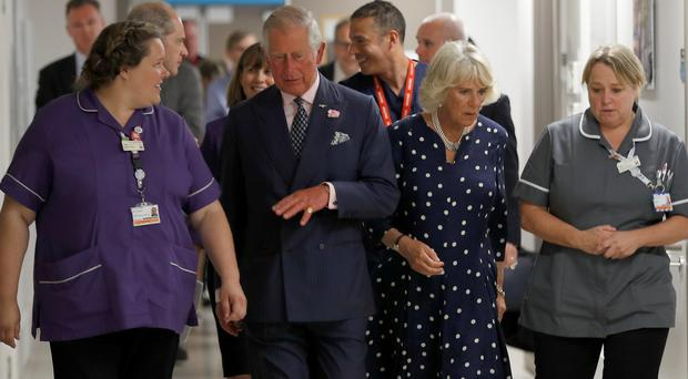 The Prince of Wales and the Duchess of Cornwall visit the Royal London Hospital (Peter Nicholls/PA)