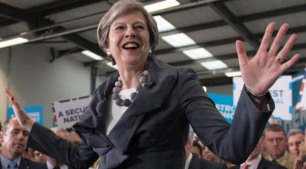 Theresa May has spent much of the election campaigning in Labour's heartlands (Stefan Rousseau/PA)