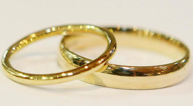 Tying the knot may have health benefits (Niall Carson/PA)