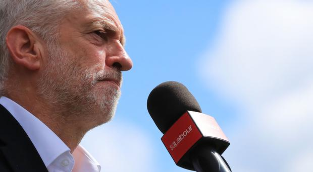 Jeremy Corbyn intensified the number of attacks via social media on Theresa May in the run-up to polling day (Peter Byrne/PA)