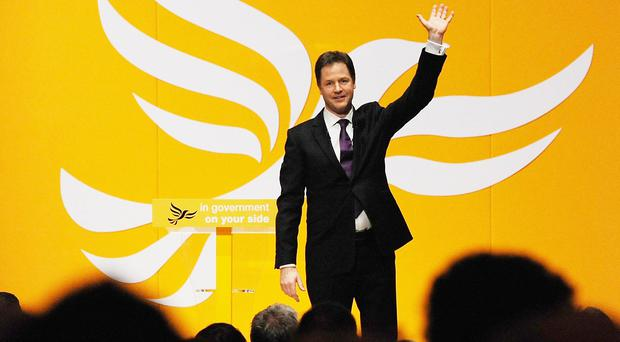Nick Clegg's loss was one of the biggest upsets of the night (Anna Gowthorpe/PA)