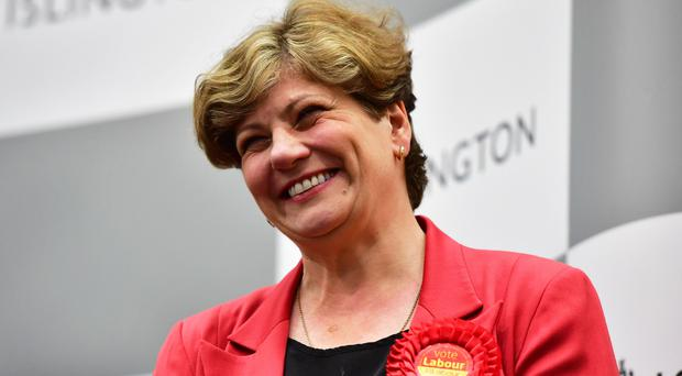 Emily Thornberry smiles after holding her Islington South and Finsbury seat (Dominic Lipinski/PA)