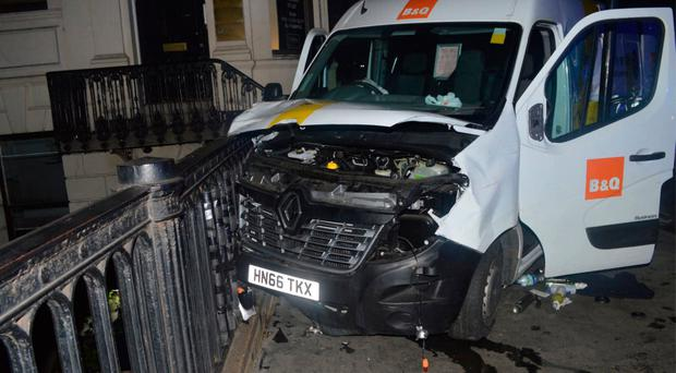 The van used in the attack