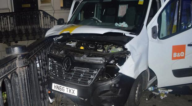 The van used in the London Bridge attack (Met Police)