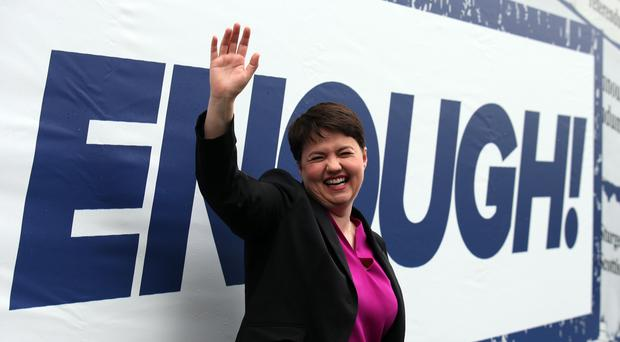 Ruth Davidson during the election campaign