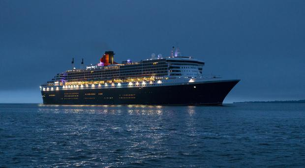 The sailor was rescued by the Queen Mary 2 following an