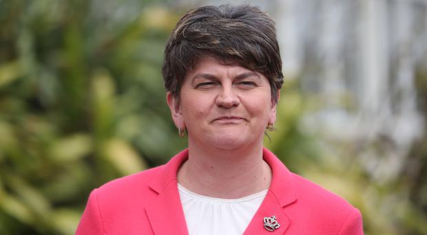 DUP leader Arlene Foster has a tough message for Sinn Fein (Niall Carson/PA)