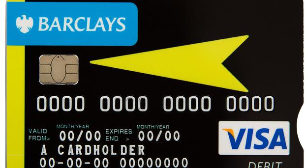 The improved high-visibility debit card could help customers with sight and dexterity issues to access its services more easily (Barclays/PA)