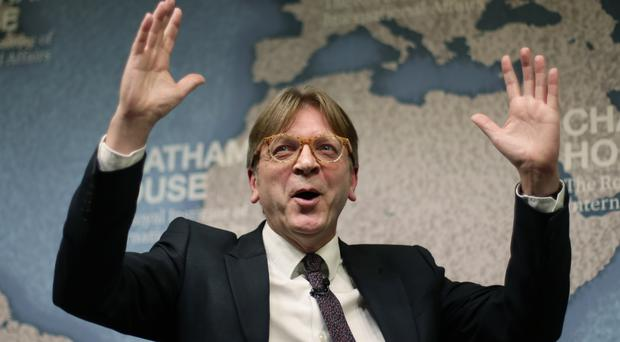 Guy Verhofstadt demanded a swift start to Brexit negotiations (Yui Mok/PA)