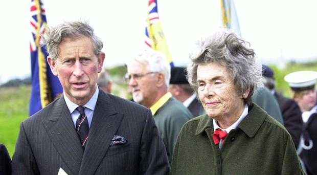 The Prince of Wales with Countess Mountbatten in 2002. (David Jones/PA)