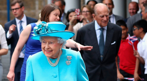 The Queen and Prince Philip leave yesterday's memorial service in London's East End
