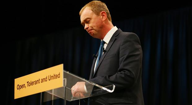 Tim Farron is quitting as Lib Dem leader (Gareth Fuller/PA)