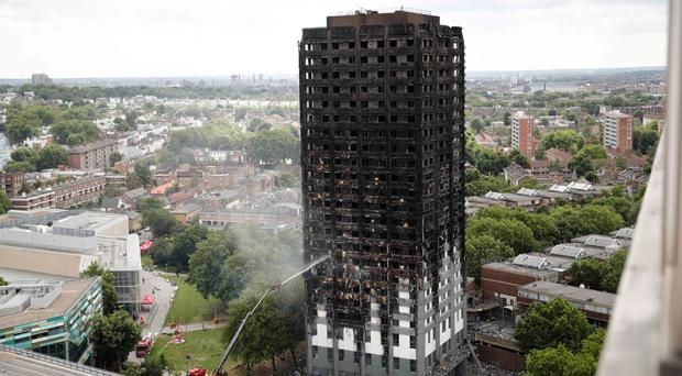 The Grenfell tower after the fire was finally extinguished