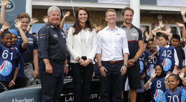 The Duchess of Cambridge attends the 1851 Trust charity's Land Rover BAR Roadshow (Frank Augstein/PA)