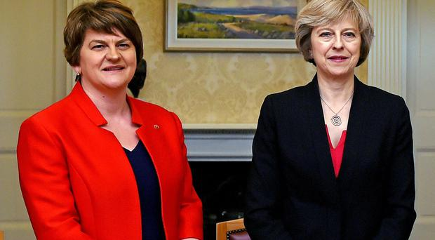Arlene Foster with Prime Minister Theresa May (Charles McQuillan/PA)
