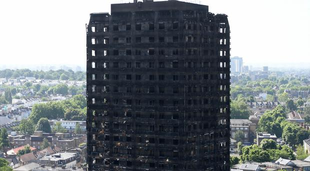 Grenfell Tower after the fire. (David Mirzoeff/PA)