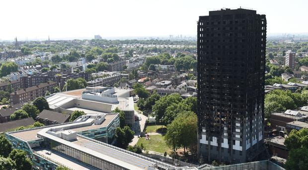 Grenfell Tower after the devastating fire (David Mirzoeff/PA)