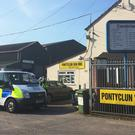 The vehicle used in the Finsbury Park Mosque attack was hired at Pontyclun Van Hire in the Rhondda Valley (Claire Hayhurst/PA)