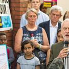 Jeremy Corbyn speaks outside Finsbury Park Mosque (Dominic Lipinski/PA)