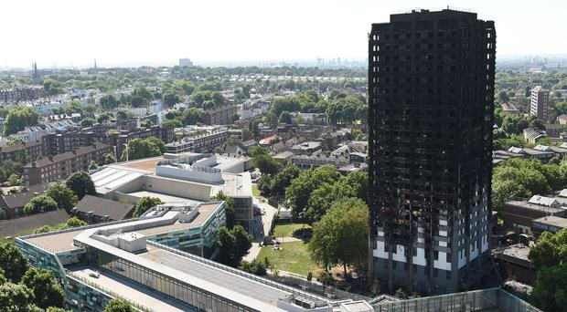 The Grenfell Tower block (David Mirzoeff/PA)