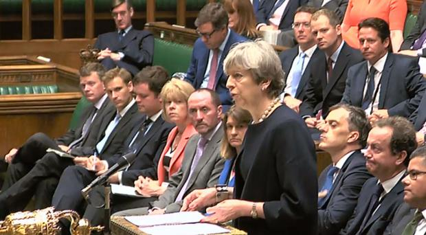 Prime Minister Theresa May has said tests on tower block cladding has shown some to be combustible (PA/PA Wire)