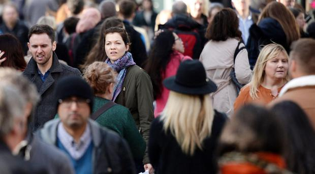 The population of the UK has seen the sharpest rise since 1947 (Stefan Rousseau/PA)