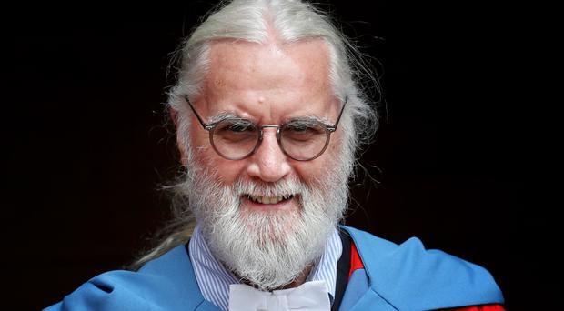 Sir Billy Connolly receives his honorary degree in Glasgow (Jane Barlow/PA)