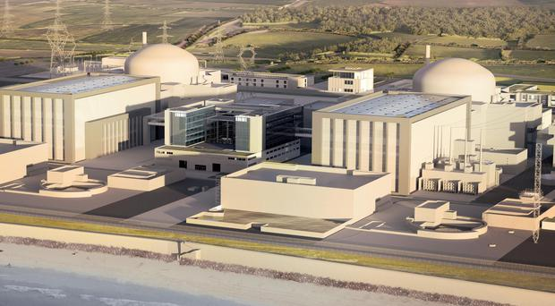 An artist's impression of plans for the new Hinkley Point C nuclear power station in Somerset (EDF/PA)