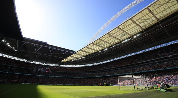 Wembley will be the venue for the Community Shield (Nigel French/Empics)