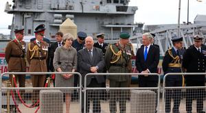 Prime Minister Theresa May attends the ninth annual Armed Forces Day in Liverpool (Peter Byrne/PA)