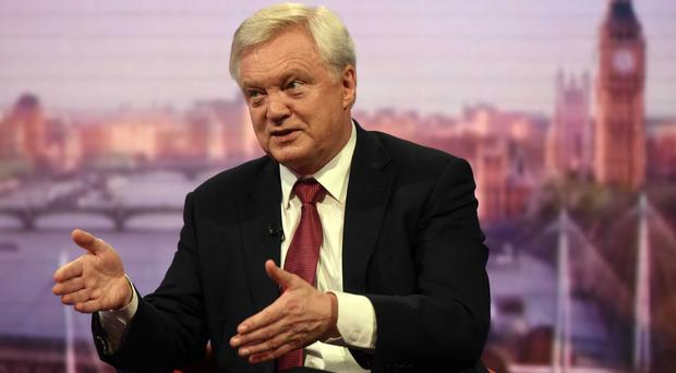 Brexit Secretary David Davis appearing on the BBC's Andrew Marr Show (Jeff Overs/BBC/PA)